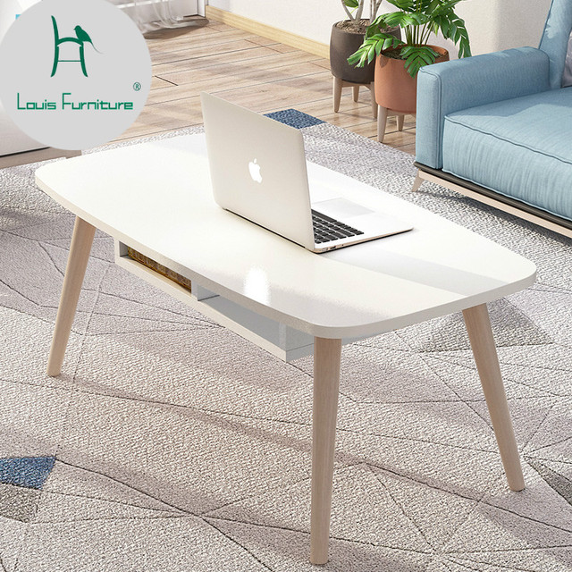 US $22.9  Louis Fashion Computer Desks Solid Wood Simple North European Tea  Table Small Apartment Creative Coffee Easy Living Room Modern-in Computer  ...