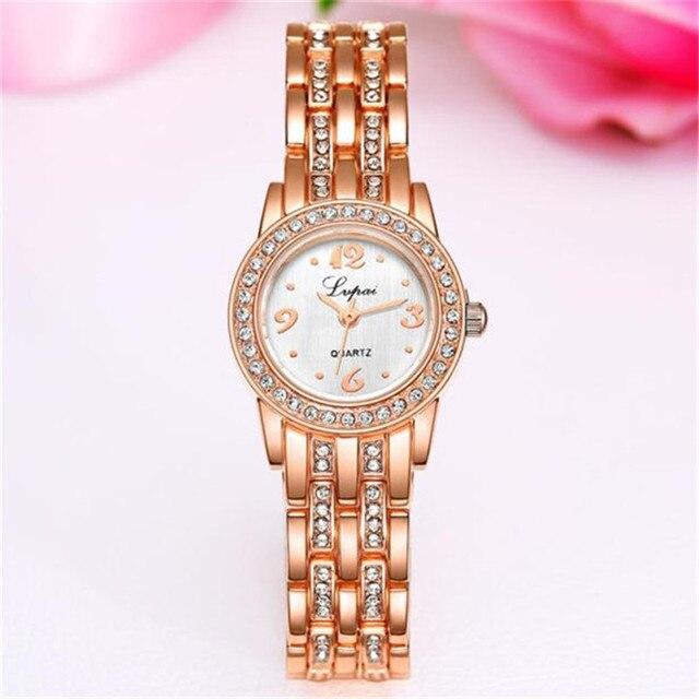 New Fashion Rhinestone Watch Women Luxury Brand Bracelet Watch Ladies Quartz Dress Watch Women Clocks montre femme Dropshipping