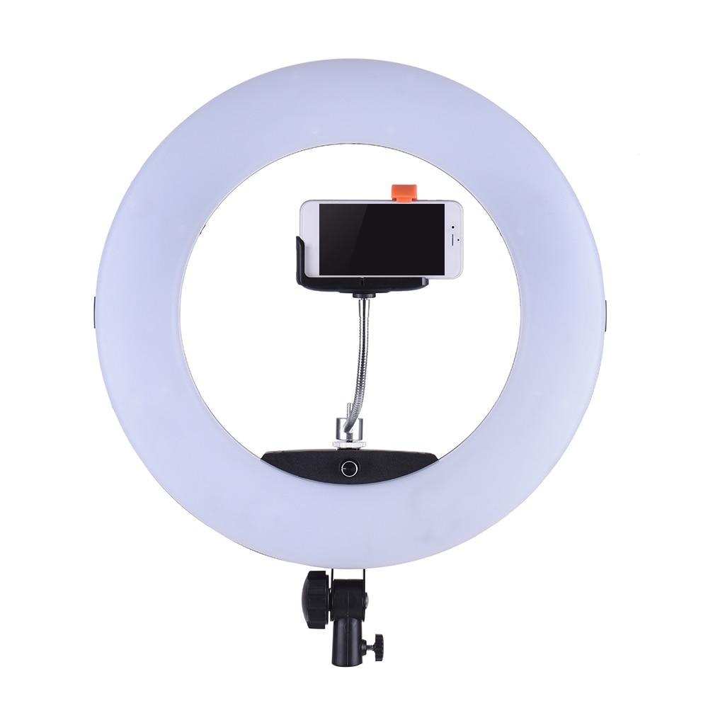 Yidoblo Fe-480ii Black Led Ring Lamp Soft Case Lcd Display Lamp Rc Photographic Adjustable Lighting 5500k 480led Lights Pure White And Translucent Camera & Photo