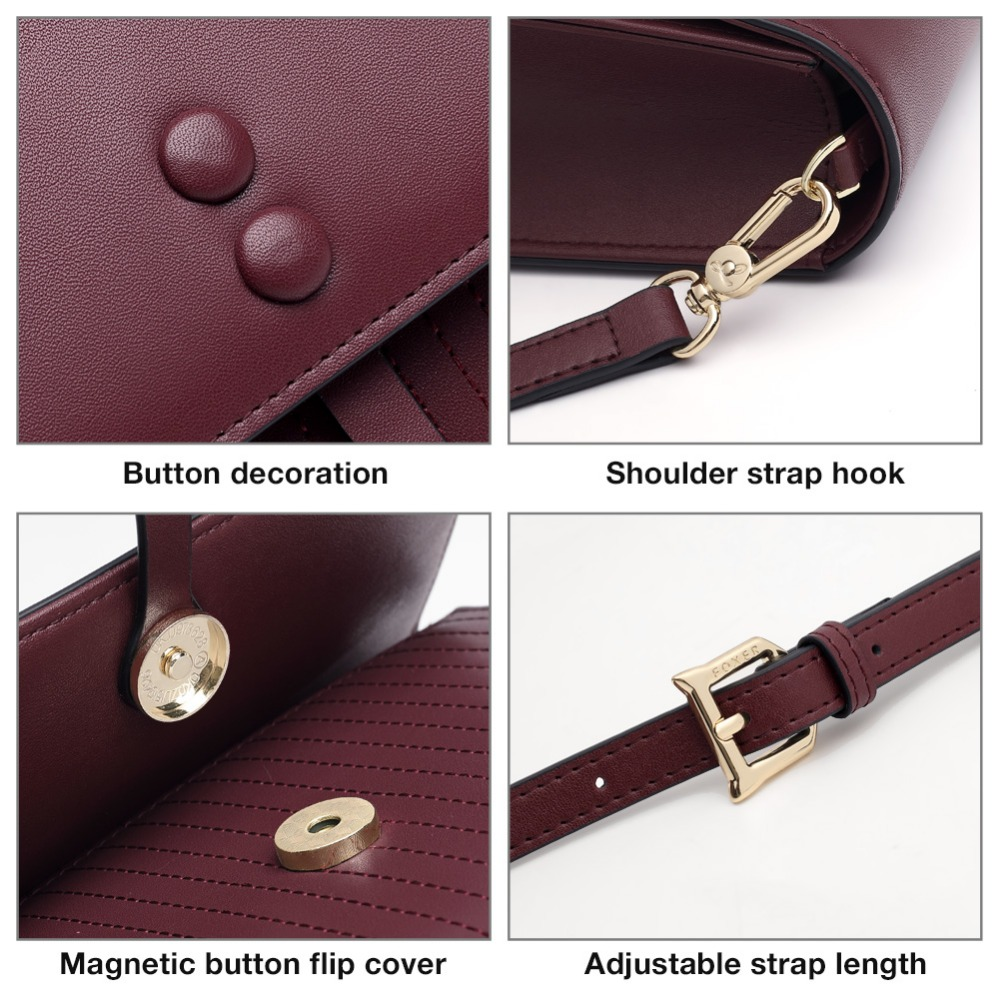 FOXER Brand 2019 Girlie Decorous Elegant Female Messenger Bags Split Leather Shoulder Bag Young Women Soft Fashion Crossbody Bag in Top Handle Bags from Luggage Bags