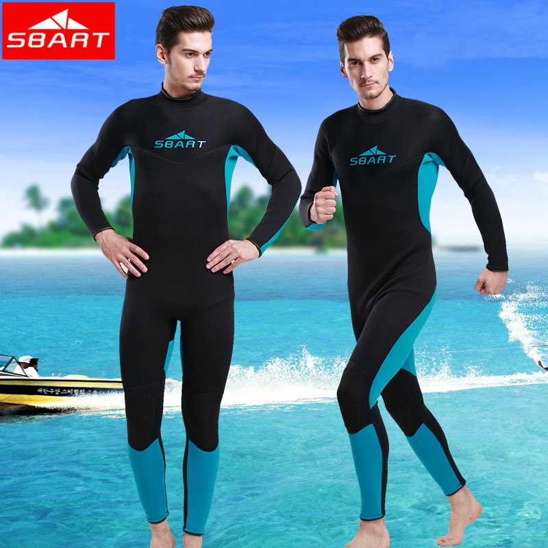 SBART 3MM Wetsuit Scuba Diving Suit Neoprene Wetsuit Men Fishing Surfing Wetsuits Full body one piece Dive Surf Wet Suits sbart 3mm scuba diving wetsuit for men s neoprene one piece full body blue dive surf snokeling swimming keep warm diving suit