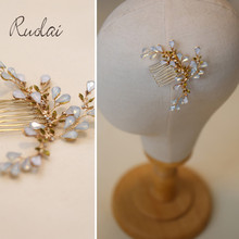 Gorgeous Wedding Head Pieces Crystal Hair Comb Royal Wedding Jewelry Handmade Hair Pieces for Ladies Rhinestone Head Band HD27