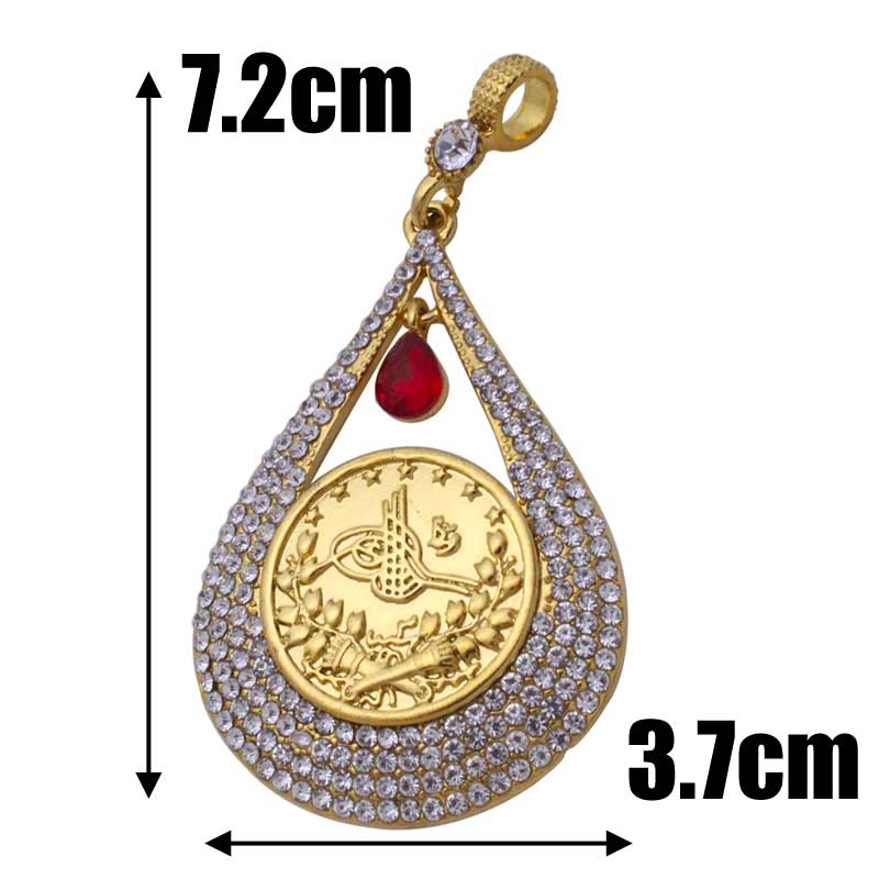 zkd islam Arab Coin Gold Color Turkey Coins