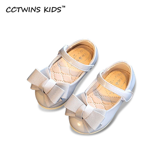 CCTWINS KIDS 2017 Spring Autumn Infant Pink Bow Girl Brand Flat Baby Party Dance Shoe Kid Mary Jane Children Fashion Black Shoe