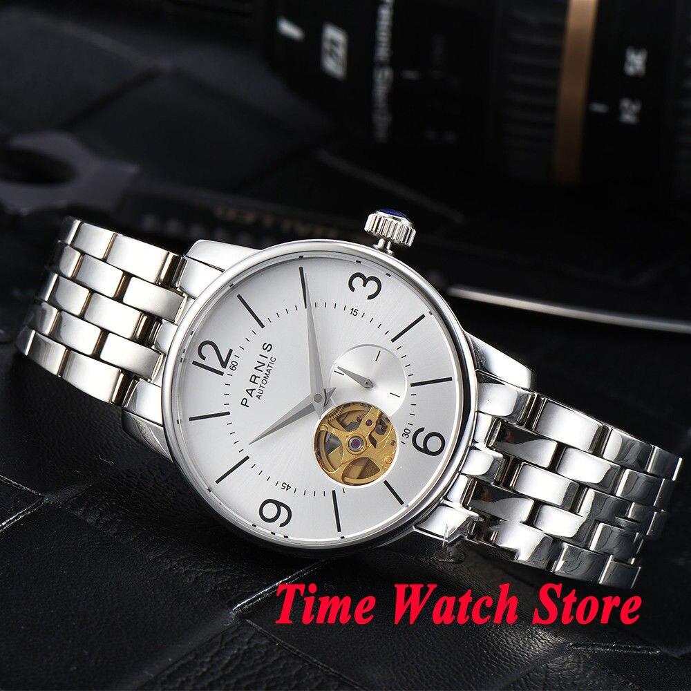 Парнис Смотреть 38 мм Мужские часы полый циферблат сапфировое стекло золотой MIYOTA автоматический механизм наручные часы для мужчин 1031