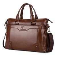 New Brand men's leather messenger bags business vintage crossbody bag men shoulder bag postman briefcase male Handbags