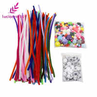 New arrivals 450pcs/lot Pipe Cleaners Chenille Stem and Pompoms with Googly Wiggle Eyes for DIY Crafts Decorations L0206