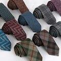 TE011 Nova Lã Cashmere Homens Gravata de Alta Qualidade 6 cm Laços Magros Moda Festa de Casamento Formal do Negócio Gravatas finas para homens