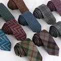 TE011 Nuevos Hombres Corbata de Alta Calidad de Lana de Cachemira 6 cm Lazos Delgados Lazos Flacos de Negocio Formal de la Boda Del Partido de la Manera hombres