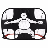 Folding Football Gate Net Goal Gate Extra Sturdy Portable Soccer Ball Practice Gate for Children Students Soccer Training Tool