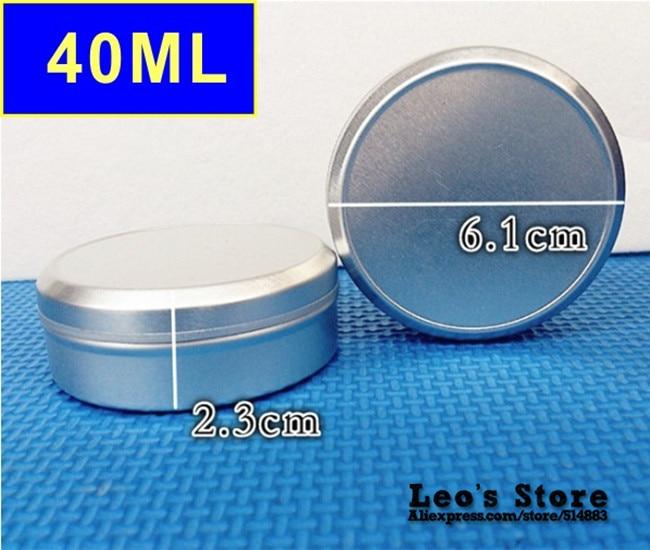 Wholesale 23mmx61mm 100pcs lot 40ml mat aluminum Jars cream cosmetics container electronic protect LAJ 05b