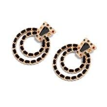 Vodeshanliwen New Multicolored Rhinestone Vintage Dangle Earrings For Women Trendy ZA Jewelry Statement Drop Earrings Wholesale