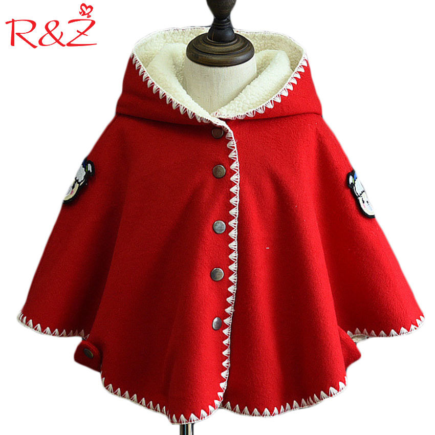 R&Z 2017 Autumn and Winter New Girls Cloak Coat Cartoon Sheep Stickers Badge Childrens Clothing Jacket Sweater Warm LambskinR&Z 2017 Autumn and Winter New Girls Cloak Coat Cartoon Sheep Stickers Badge Childrens Clothing Jacket Sweater Warm Lambskin