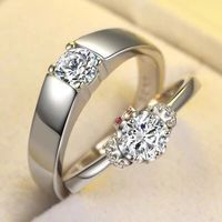 Free Shipping 2pcs lot Custom logo couples ring silver 925 Personalized birthday gifts man and women Platinum plating valentine