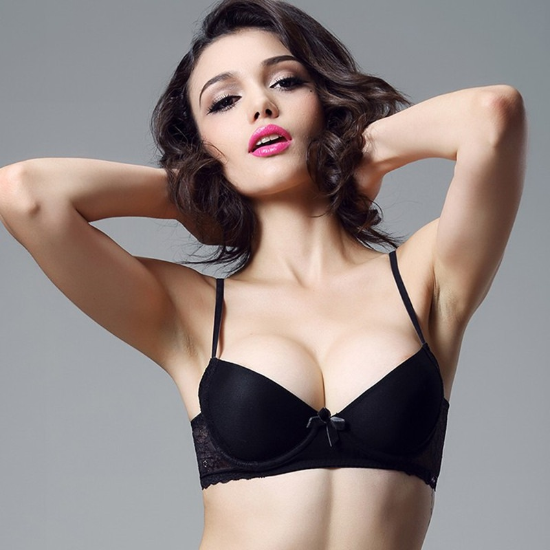 8109bb2b6e4 Victoria s Masquerade Women s Removable Padded Bra Mesh Surface BH Sexy  Lace Decorated T-shirt Bra