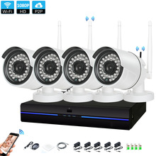 4CH CCTV System Wireless 1080P NVR 4PCS 2.0MP IR Outdoor indoor P2P Wifi IP CCTV Security Camera System Surveillance NVR Kit