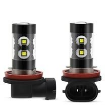 2x Canbus H11 H8 H9 светодиодный туман светильник лампочка для Audi A3 A4 B6 B8 A6 C6 80 B5 B7 A5 Q5 Q7 TT 8P 100 8L C7 8V A1 S3 Q3 A8 B9 гибкие чехлы из термопластичного полиуретана(A7