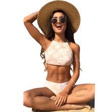High Neck Brazilian Sexy Bikini Swimwear Women Push Up Bikini Set Two Piece Halter Swimsuit 2017 Beach Swim Wear Bathing Suit