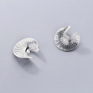 Image 3 - מינימליזם עגילי 925 כסף קוריאני עגילי תכשיטי וינטג Brincos Boho Pendientes Kolczyki Oorbellen עגילים לנשים