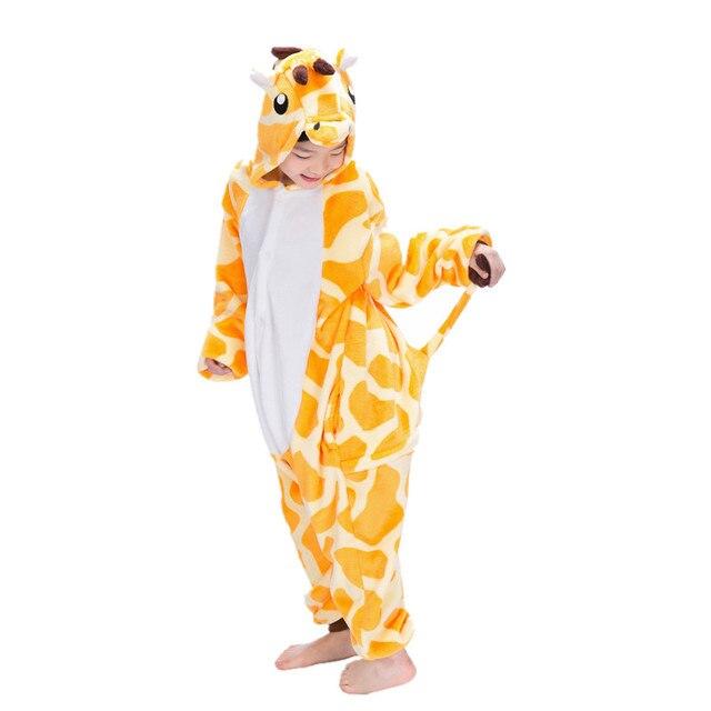 3deb73bcb98e Cartoon Animal Giraffe Onesies for Children Onesie Pajamas Jumpsuit Hoodies  Sleepwear For Kids