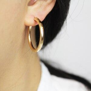 Image 2 - Boucles doreilles en or pour femmes, bijoux modernes, bijoux minimalistes, style Boho, cadeau, Vintage