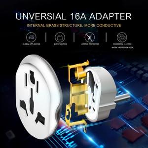 Image 3 - Prise universelle ue adaptateur 16A prises électriques International prise de courant convertisseur ca 250V pour outil de voyage