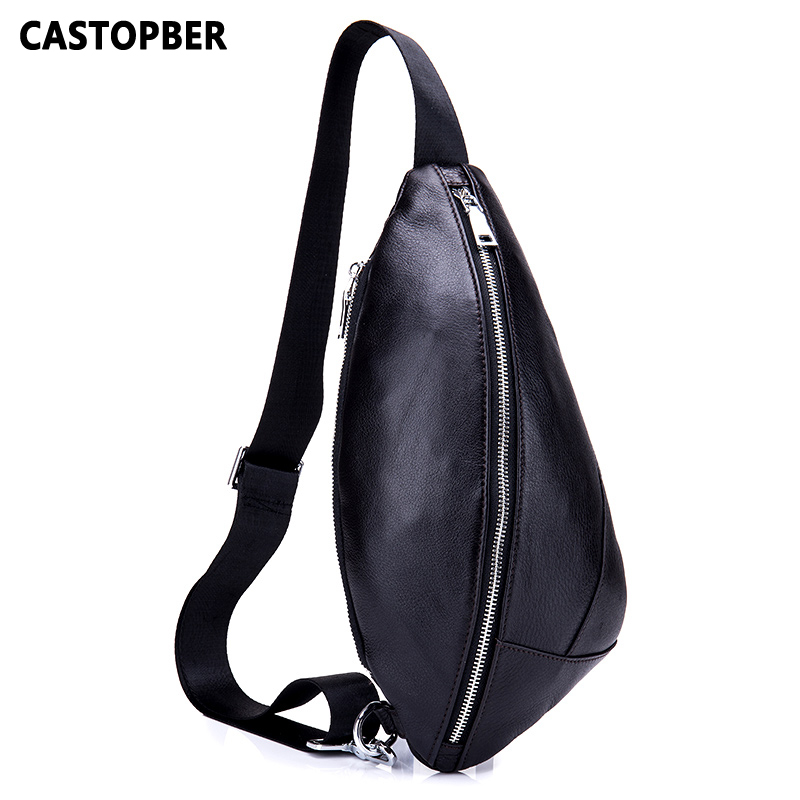 Men Chest Bag Leather Single Shoulder Cow Genuine Leather European And American Style High Quality Fashion Male Crossbody Bags men s bags chest pack casual single shoulder back strap male bag split leather high capacity chest bag crossbody leather