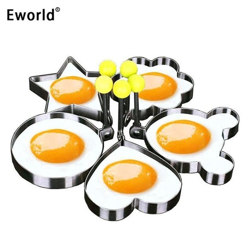 Eworld 5 teile / satz Edelstahl Nette Geformte Spiegelei Form - Küche, Essen und Bar
