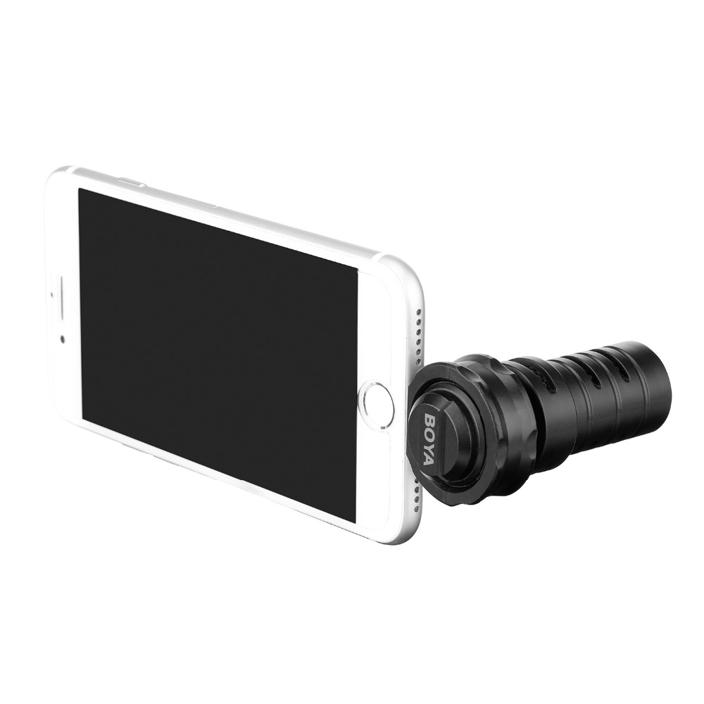 Image 3 - BOYA BY DM200 Digital Stereo Condenser Shotgun Microphone with  Lightning Input for Apple iPhone 8 x 7 7 plus iPad iPod Touch  etcMicrophones