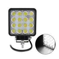 2PCS Square design spot beam 48w led work light IP67 waterproof Offroad truck 4x4 led driving light