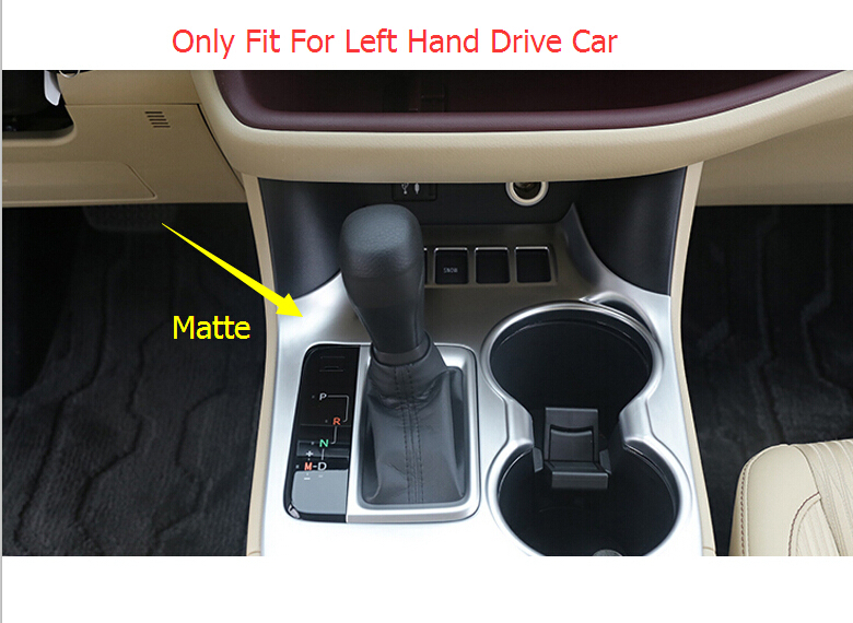Matte Gear Pannel Water Cup Frame Cover Trim For Toyota Highlander 2015