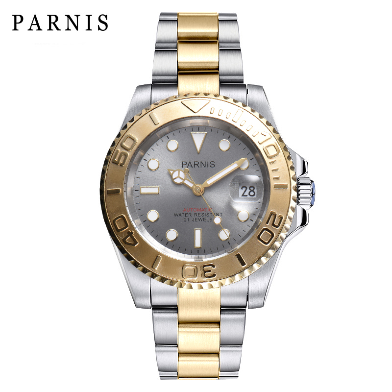Parnis Deep Sea Series 40mm Watch Men Rotating Ceramic Automatic Watch Folding Clasp Bracelt Mechanical WristwatchesParnis Deep Sea Series 40mm Watch Men Rotating Ceramic Automatic Watch Folding Clasp Bracelt Mechanical Wristwatches