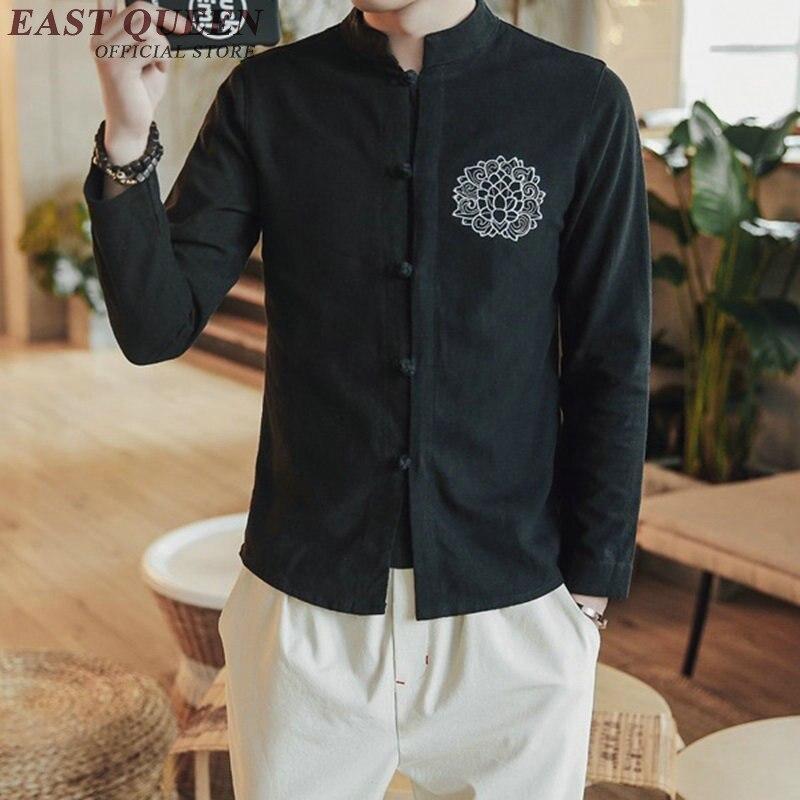 Vêtements chinois traditionnels pour hommes blouse homme chemise sociale mâle traditionnel chinois mâle vêtements KK1891 H