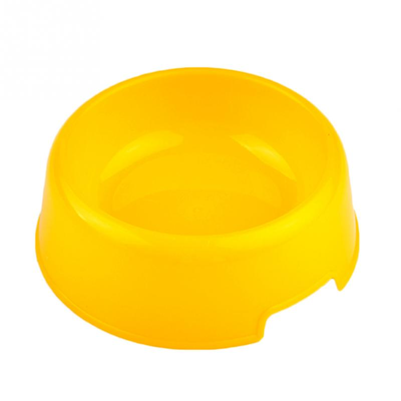 Hot Cute Pet Supplies Candy Color Plastic Dog Bowl Feeding Water Food Puppy Feeder Cat Dog Bowls Drop Shipping