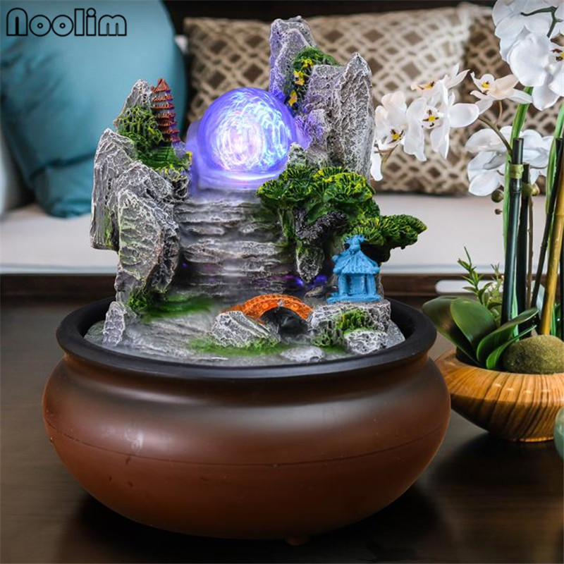 Home Decor Lhr Trading Inc Feng Shui Tabletop Water Fountain Indoor Tabletop Office Stone Resin With Led Lights Indoor Fountains Accessories Zuiverlucht Tabletop Fountains
