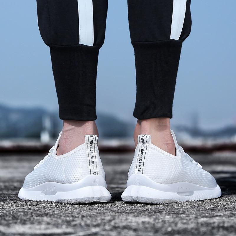 Pure Color Light Casual Shoes Mesh Cloth Men's Shoes Breathable Walking Jogging Shoes Large Size Men's Shoes 46 (9)