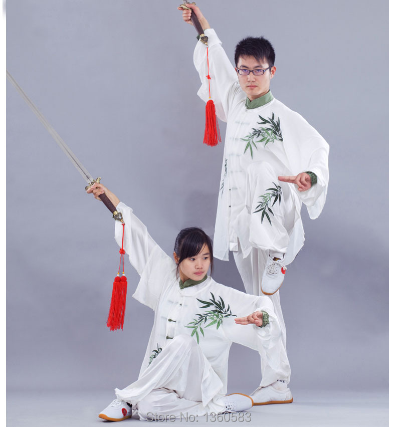 [Oriental charm] Customize Tai chi clothing kungfu uniforms Martial arts clothes wushu suit bamboo Embroidery for men women kids [oriental charm]customize tai chi clothing taiji sword uniform kungfu outfit martial arts clothes wushu suit for adult children