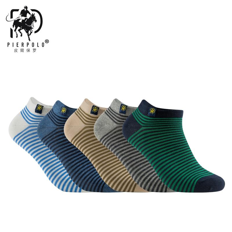 PIERPOLO New High Quality Fashion Brand S Stripe Socks Cotton Meia Casual Men's Socks Summer Happy Socks Calcetines