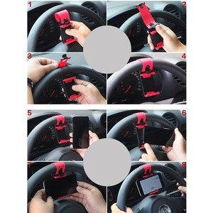 Image 5 - Support de téléphone pour voiture avec Clip de volant de vélo, pour iPhone 7 Plus Samsung S9 Plus Xiaomi 8 9