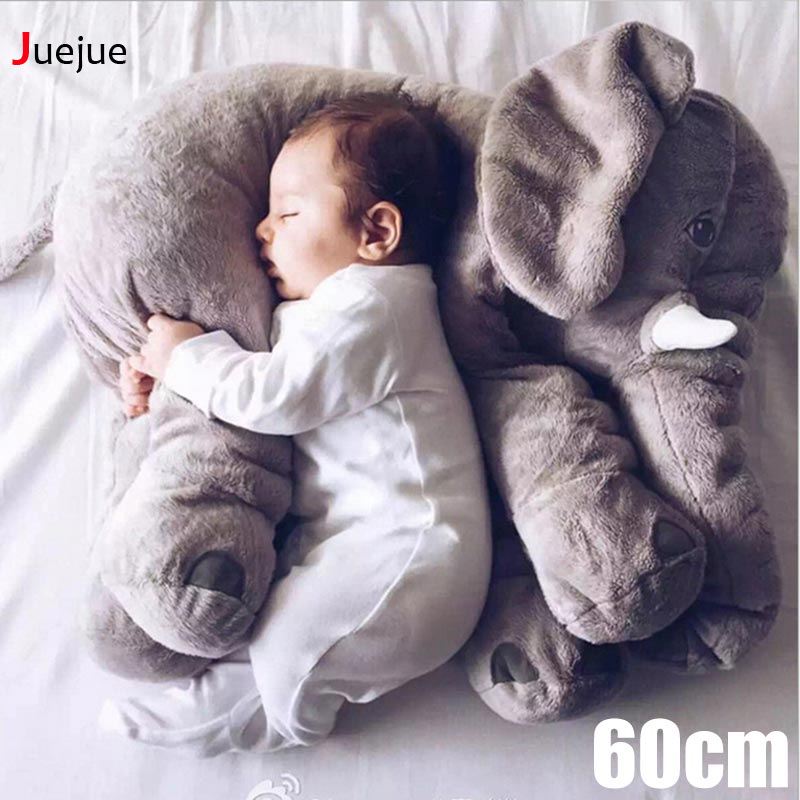 2017 Hot 60cm Plush Toy Elephant Baby Doll Toy Elephant Pillow To Placate Plush Toys Birthday Gift Holiday Gift lovely giant panda about 70cm plush toy t shirt dress panda doll soft throw pillow christmas birthday gift x023