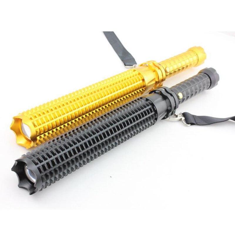 Outdoor Long Tactical Self Defense Flashlight cree Q5 Bright Flash light Led Torch Lamp Lantern Emergency Defensive Flash Light