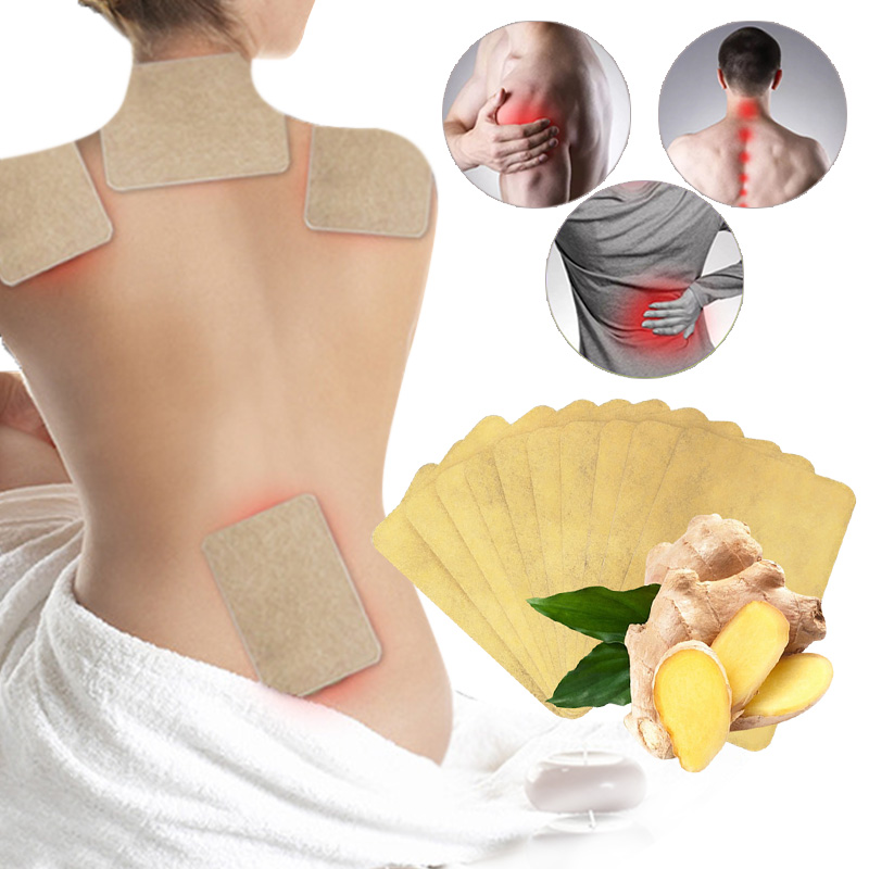10 pcs/1bag Ginger Back Pain Patch Neck Massage Back Body Warmer Sticker Self Heating 12h Patch Winter Keep Joint Warm Foot Knee 1