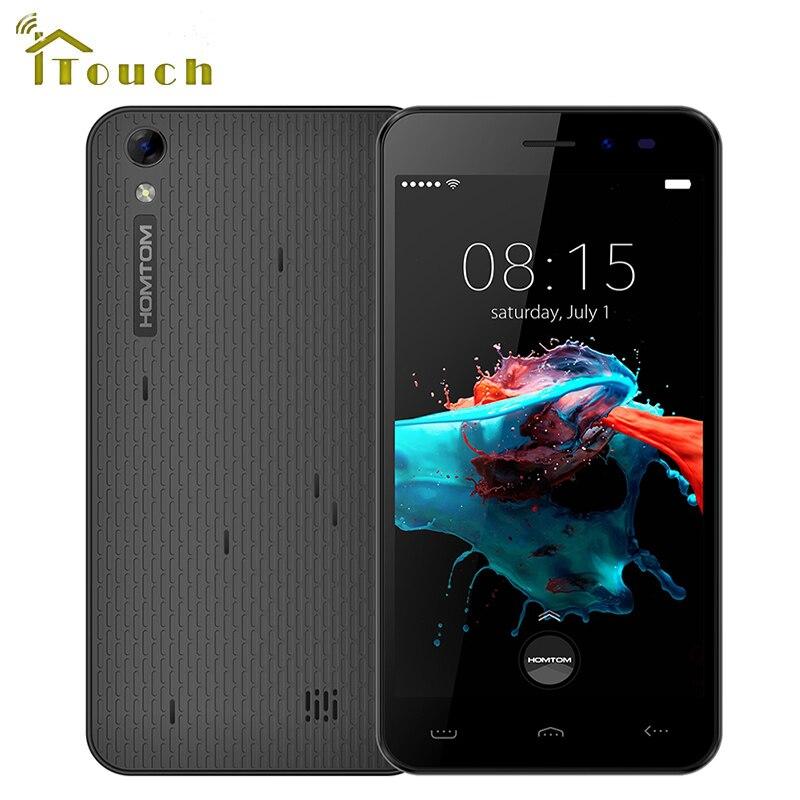 Цена за Оригинал Homtom HT16 3 Г WCDMA Смартфон 5.0 Дюймов HD Android 6.0 MT6580 Quad Core 1 ГБ RAM 8 ГБ ROM 3000 мАч 8MP Камера Мобильного Телефона