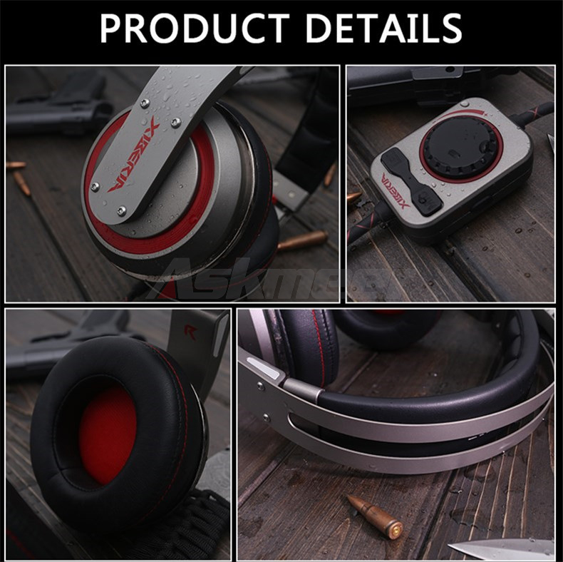 USB Gaming Headphones with Micrphone 7.1 Surround Sound Stereo Glowing Headset (8)