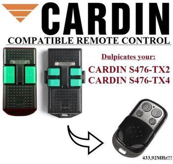 CARDIN S476 TX2 or S476 TX4 Universal remote control garage door gate   replacement clone duplicator Fixed code 433.92MHz ditec gol4c garage door gate remote control replacement duplicator fixed code 433 92mhz