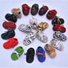 New Fashion Newborn Baby Kids Moccasins Soft Genuine PU Leahter Moccs Shoes First Walkers Leopard Infant