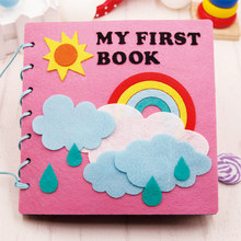 Montessori Early Education Baby Felt Book Homemade Picture Quite Book Diy Craft Children Material Kit Agujas Para Fieltro(China)