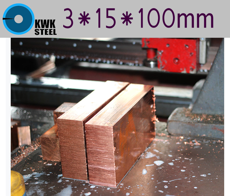 Copper Sheet 3*15*100mm C11000 ISO Cu-ETP CW004A E-Cu58 Plate Pad Pure Copper Tablets DIY Material For Industry Or Metal Art