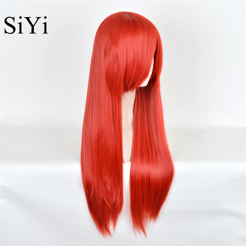33 inches lol the nightmare before christmas sally anime cosplay women wig long straight red synthetic wigs for black women on aliexpresscom alibaba - Sally Nightmare Before Christmas Wig