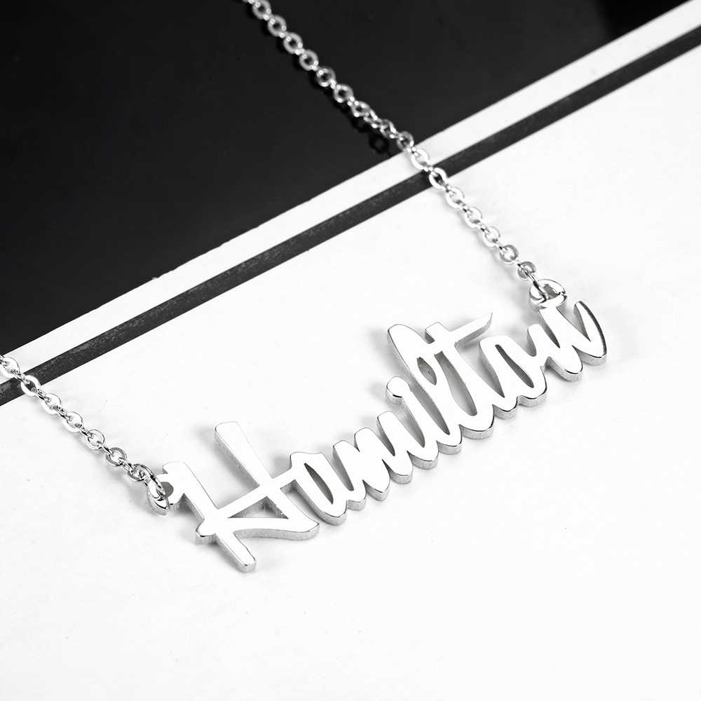 Stainless steel Personalized Name Necklaces Women Namenecklace & Pendant Custom Nameplate Necklace Jewelry Gift For Mom Dropshipping